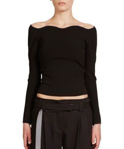 Cédric Charlier | Off The Shoulder Sweater