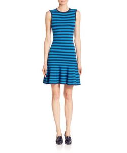 Michael Kors Collection | Striped Flounce Dress
