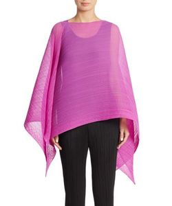 Pleats Please By Issey Miyake | Solid Scarf Top