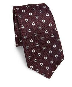 Kiton | Floral Jacquard Silk Tie