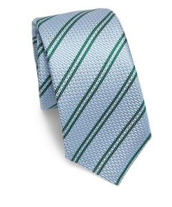 Kiton | Textured Stripe Silk Tie