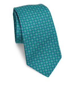 Kiton | Circle Flower Silk Tie