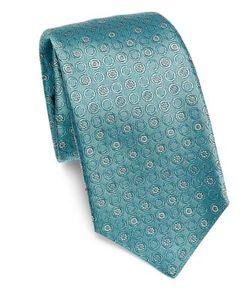 Kiton | Round Floral Silk Tie
