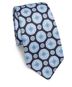 Kiton | Medallion Patterned Tie