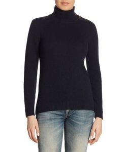 Ralph Lauren Collection | Buttoned Cashmere Turtleneck Sweater