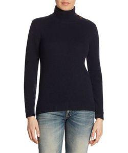 Ralph Lauren Collection | Buttoned Cashmere Turtleneck Sweater