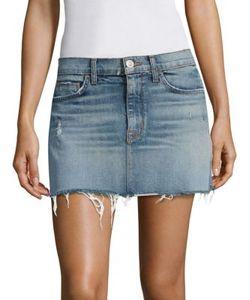 Hudson | Distressed Denim Mini Skirt