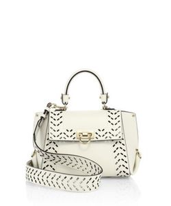 Salvatore Ferragamo | Sofia Small Perforated Leather Satchel