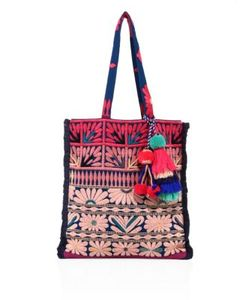 Figue | Samoa Floral-Embroidered Canvas Tote