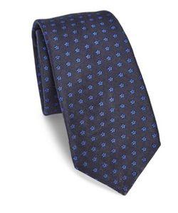 Kiton | Floral Print Silk Tie