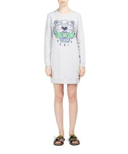 Kenzo | Embroidered Tiger Icon Sweatshirt Dress