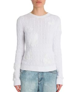 Valentino | Butterfly Cable-Knit Cotton Sweater