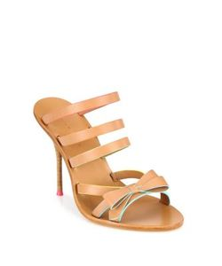 Sophia Webster | Samara Strappy Faux-Leather Bow Mules