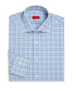 Isaia | Checked Regular-Fit Dress Shirt