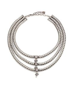 Dannijo | Zayd Three-Row Crystal Necklace