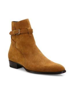 Saint Laurent | Wyatt Suede Ankle Boots