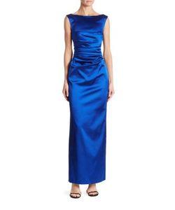 Talbot Runhof | Sleeveless Ruched Gown