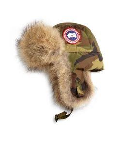 Canada Goose | Coyote Fur Camo Aviator Hat