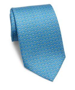 Salvatore Ferragamo | Rope Gancini Printed Silk Tie