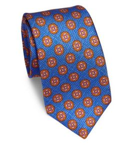 Kiton | Geometric Floral Silk Tie