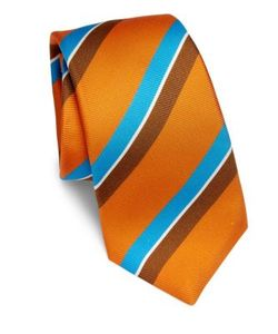 Kiton | Striped Silk Tie