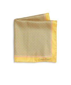 Salvatore Ferragamo | Ganci Rope Pattern Silk Pocket Square