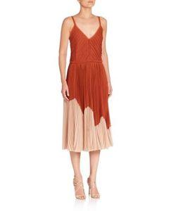Jason Wu | Crinkled Chiffon Cocktail Dress