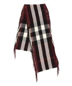 Burberry | Fringed Check Cashmere Scarf