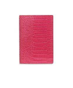 Smythson | Mara Crocodile-Embossed Leather Passport Cover