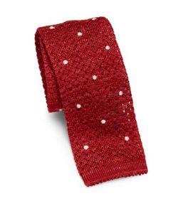 Isaia | Dot Knit Cotton Tie