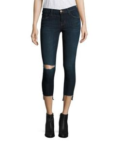 J Brand | 9326 Distressed Low-Rise Cropped Step Hem Jeans/Disguise Destruct