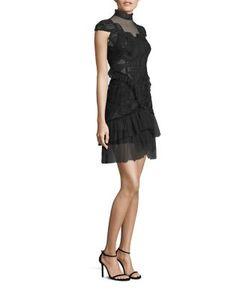Jonathan Simkhai | Lace Tiered Ruffle Dress