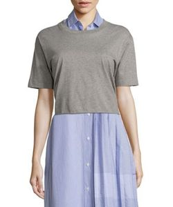 Public School | Lara Tie-Back Cotton Jersey Tee