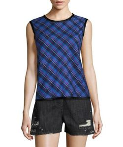 Public School | Dalya Abia Plaid Tank Top
