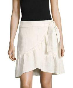 A.L.C.   Hampton Ruffled Linen Silk Skirt