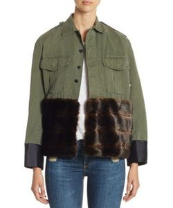 Harvey Faircloth | Classic Army Jacket With Faux Fur
