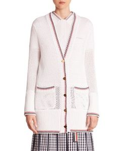 Thom Browne | Cotton Open Knit Cardigan