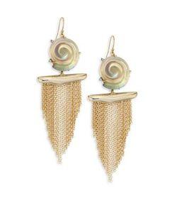 Alexis Bittar | Lucite Shell Tassel Earrings