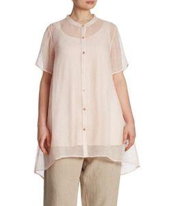 Eileen Fisher, Plus Size | Organic Linen Blend Mesh Shirt
