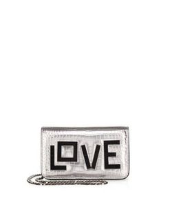 Les Petits Joueurs | Ginny Love Croc-Embossed Leather Clutch