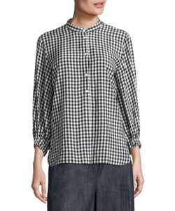 Tibi | Gingham Button Front Tunic