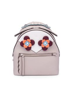 Fendi | Embellished Leather Mini Backpack