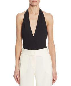 Halston Heritage | Bianca Rib-Knit Halter Bodysuit