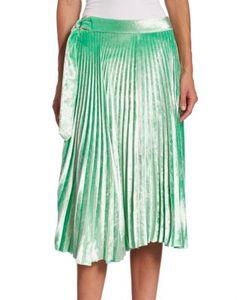 Victoria Beckham   Pleated Velvet Skirt