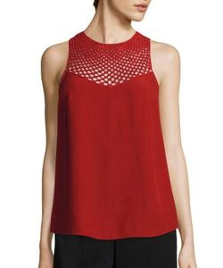 A.L.C. | Quinn Crochet Yoke Top
