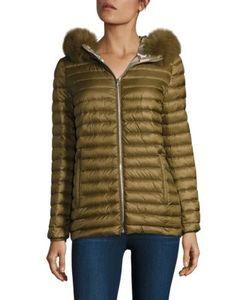 Army Yves Salomon | Fox Fur-Trim Reversible Puffer Jacket