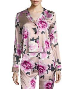 Fleur Du Mal | -Print Silk Satin Pajama Top