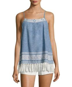 Joie | Agneza Chambray Tassel Tank Top