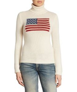 Ralph Lauren Collection | Flag Cashmere Turtleneck Sweater
