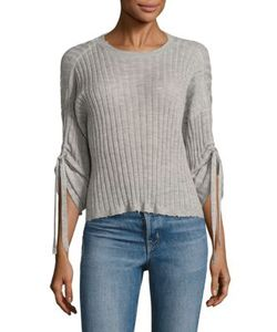 Helmut Lang | Ribbed Drawstring Cashmere Top